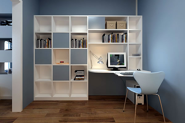 Book Shelving and Desk