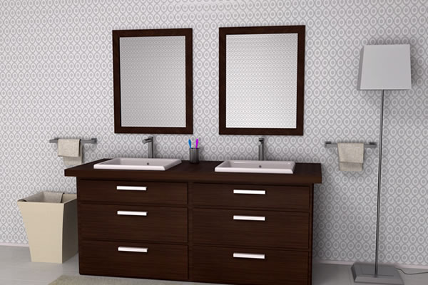 Dark Walnut Vanity