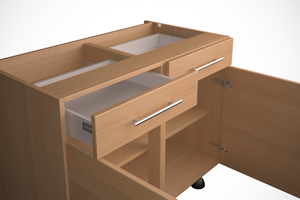 Double Drawerline Drawer and Doors Image