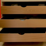 Internal storage drawers